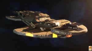 Cardassian Keldon class by thefirstfleet