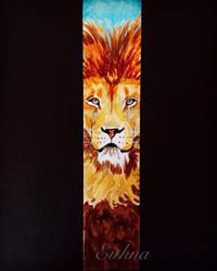 Lion Bookmark by EithnaArt