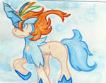 Keldeo watercolor by 00-petitdragon-00