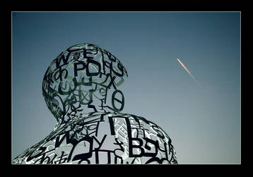 Sculpture and airplane by pilgrimx