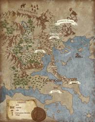 Fantasy Map by simorette