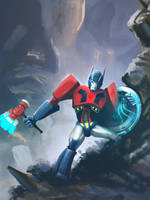 Transformers. fan made art book. Optimus Prime by LindaBedwall