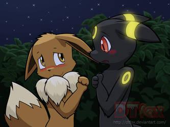 Two Shy Pokemon by DTfox