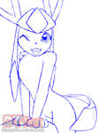 Glaceon Sketch 2018 by DTfox