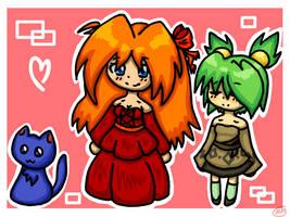 Natalie, Anna and Nolegs doodle by HannaDianaMagic