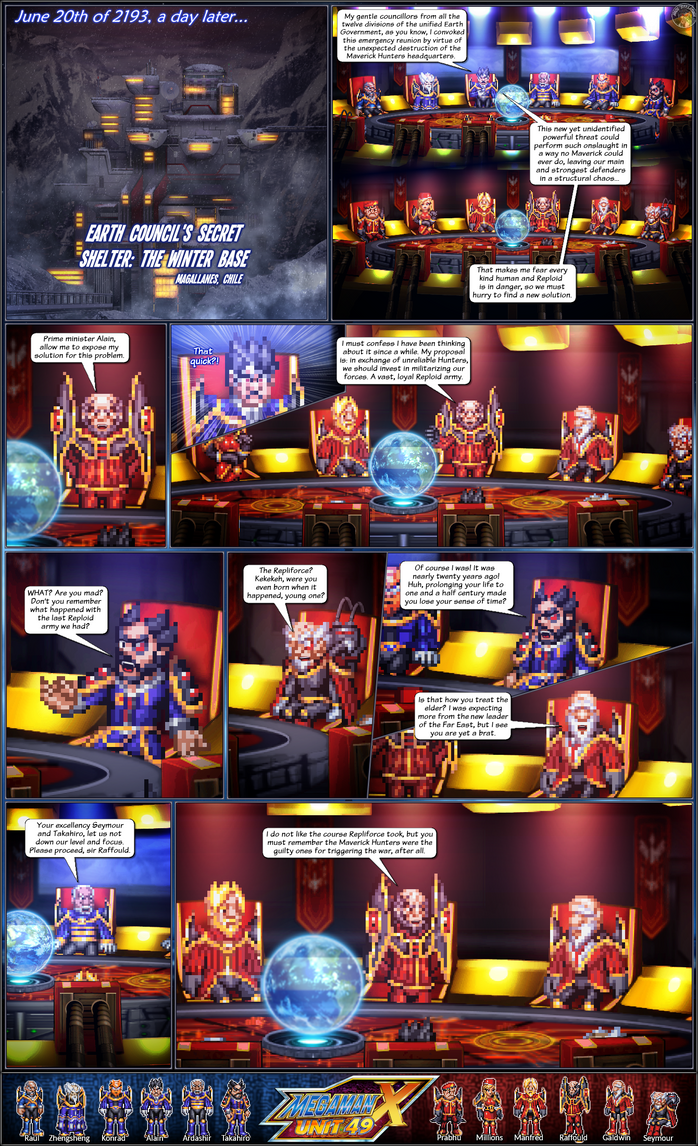 MMX:U49 - S1Ch1: Earth's Army (Page 1) (New ver.) by IrregularSaturn
