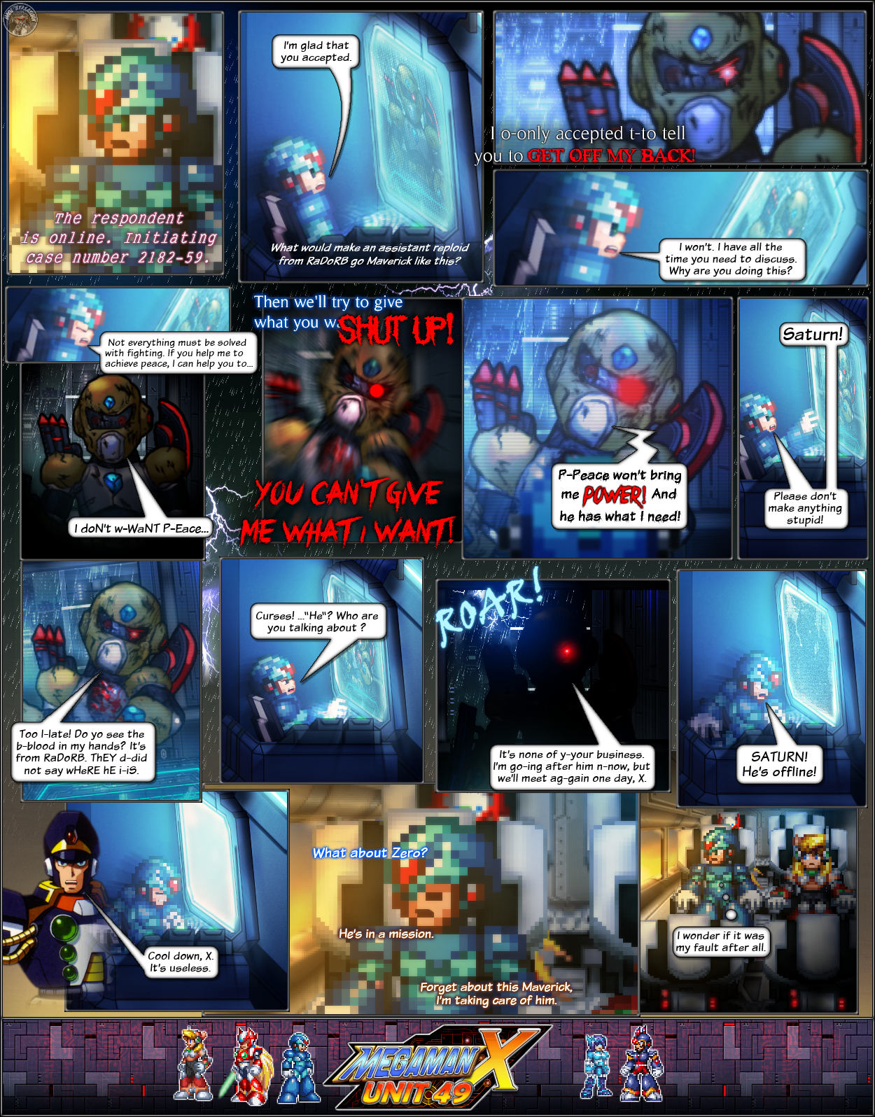 MMX:U49 - S1Ch3: The 49th Unit (Page 1) by IrregularSaturn