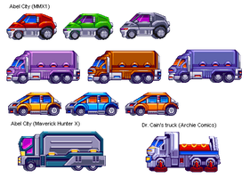 Mega Man X1 Vehicles in 32 Bits by IrregularSaturn