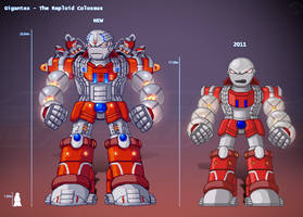 Gigantex the Reploid Colossus by IrregularSaturn