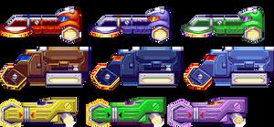 Mega Man X8 Vehicles in 32 Bits by IrregularSaturn