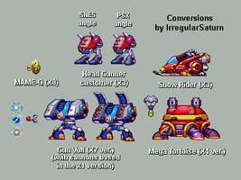 SNES-MMX Enemy 32 bits Conversion Batch by IrregularSaturn