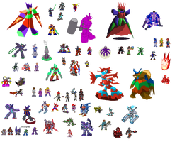 A bunch of really old sprites I plan to remake by IrregularSaturn