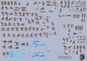 Baronel Sprite Sheet (MMX:U49) by IrregularSaturn