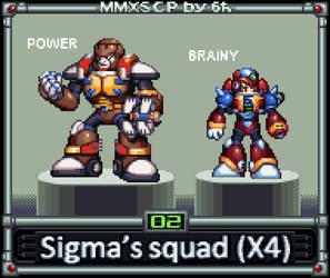 Sigma's Squad from Mega Man X4 (MMX:SCP #02) by IrregularSaturn
