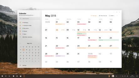 Microsoft Fluent Design System - Calendar v2 by SamuDroid