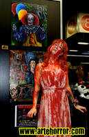 Carrie girl with my horror art by JosefVonDoom