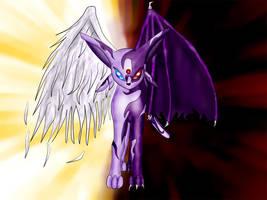 Demonic-Angelic Espeon by FireAnne