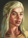 daenerys targaryen wip by Sophia-M