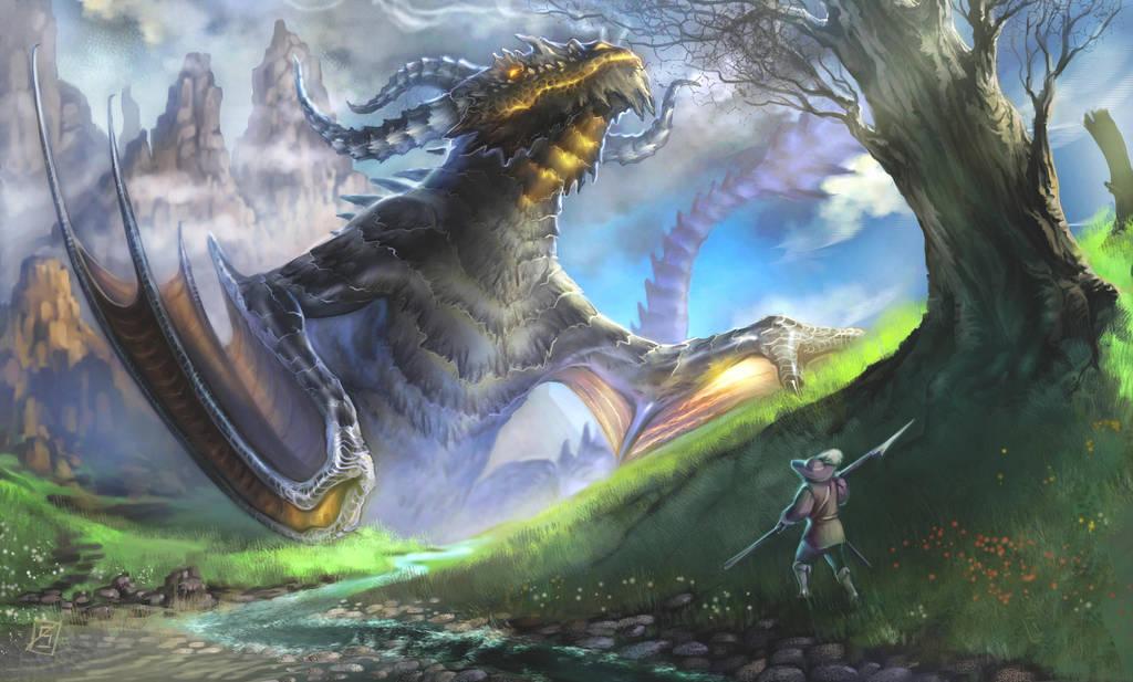 Dragon Blocking the way by Sophia-M