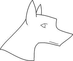 MS Paint Dog Lineart2 by Kayori-Ayane
