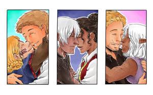 Dragon Age Kisses by TriaElf9