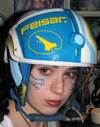 Feisar helmet worn 1 by Meadowknight