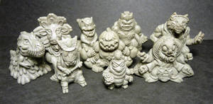 Amusing Mini Paranormal sculpts (current batch!) by Meadowknight