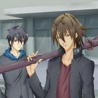 Kyouichi and Tatsuma - Tokyo Majin by Lavi-Li