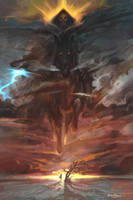 sunset knight by breath-art
