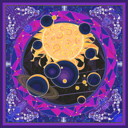 solar system:the sun by breath-art