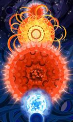 birth and death of star by breath-art