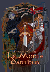 cover for Le Morte d'Arthur by breath-art