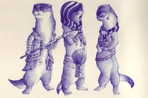 Otter sketchs by holy-descendant