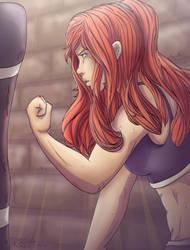 Artemis vs Punching Bag by CleoArrow