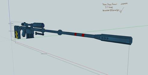 Yoko's Sniper Rifle - Sketchup design by AriaDaCapo