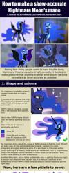 Tutorial: Nightmare Moon's mane by ZuTheSkunk