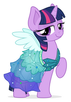 Commission: Twilight in a dress by ZuTheSkunk