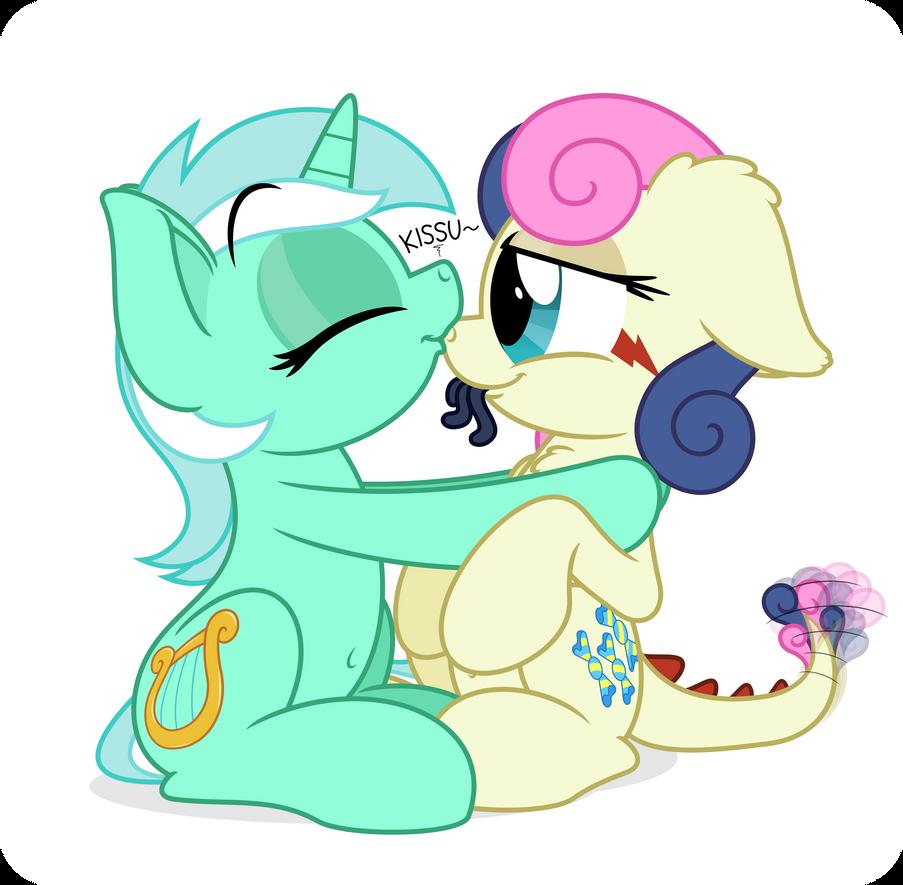 Commission: Lyra and Tatzlbon by ZuTheSkunk