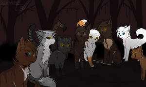 Darkforest cats by saeshells