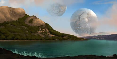 Shining planet by KatRoart