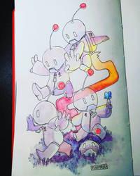 Inktober day 11: Robots by Yukapiruka