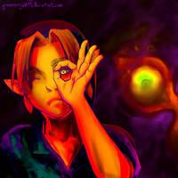 Legend of Zelda Majora's Mask by greeneryLV01
