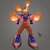 Flame Stag - Mega Man X2 by carolibuedev