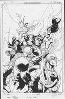 new avengers inks by MarkMorales