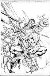 avenging spider-man cover by MarkMorales