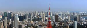 Tokyo Skyline 1 by Strikethecamera