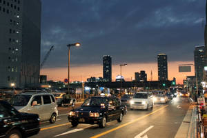 Osaka Traffic by Strikethecamera