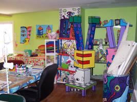 My freshly painted studio by jeleneart