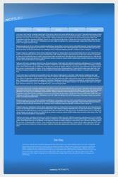 Blue web design by mottl