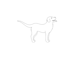 Dog Lineart Large/Flop-ear/short-fur/male by renllaw
